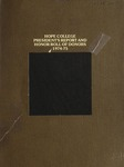 1974-1975. Presidents Report by Alumni Association of Hope College