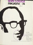 Hope College Magazine, Volume 28, Number 1: Fall 1974 by Alumni Association of Hope College