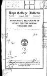 1928. V66.02. August Bulletin.