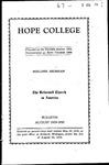 1929-1930. August Bulletin.