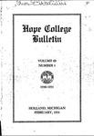 1930-1931. V69.01. February Bulletin.