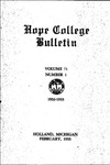 1932-1933. V71.01. February Bulletin.
