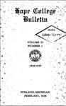 1938-1939. V77.01. February Bulletin.