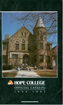 1996-1997. Catalog. by Hope College
