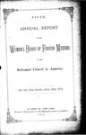 5th Annual Report of the Woman's Board of Foreign Missions