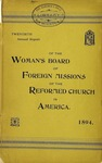 20th Annual Report of the Woman's Board of Foreign Missions