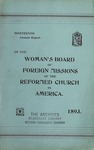 19th Annual Report of the Woman's Board of Foreign Missions