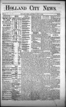 Holland City News, Volume 1, Number 21: July 13, 1872 by Holland City News