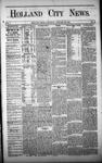 Holland City News, Volume 1, Number 49: January 25, 1873