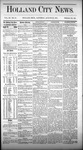 Holland City News, Volume 3, Number 28: August 29, 1874