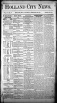 Holland City News, Volume 4, Number 1: February 20, 1875