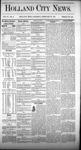 Holland City News, Volume 4, Number 2: February 27, 1875