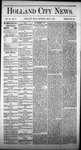 Holland City News, Volume 4, Number 11: May 1, 1875