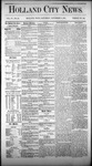 Holland City News, Volume 4, Number 38: November 6, 1875