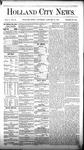 Holland City News, Volume 5, Number 50: January 27, 1877