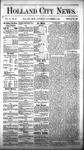 Holland City News, Volume 6, Number 40: November 17, 1877 by Holland City News