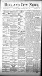 Holland City News, Volume 7, Number 8: April 6, 1878