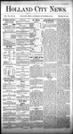 Holland City News, Volume 7, Number 40: November 16, 1878 by Holland City News