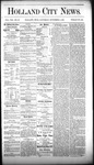 Holland City News, Volume 8, Number 39: November 8, 1879 by Holland City News