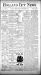 Holland City News, Volume 10, Number 40: November 12, 1881