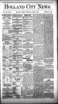 Holland City News, Volume 12, Number 11: April 21, 1883