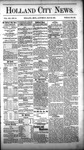 Holland City News, Volume 12, Number 16: May 26, 1883