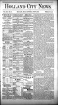 Holland City News, Volume 12, Number 17: June 2, 1883