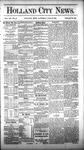Holland City News, Volume 12, Number 24: July 21, 1883