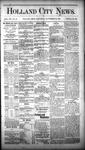 Holland City News, Volume 12, Number 34: September 29, 1883