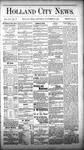 Holland City News, Volume 12, Number 42: November 24, 1883