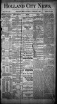 Holland City News, Volume 13, Number 1: February 9, 1884
