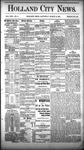 Holland City News, Volume 13, Number 6: March 15, 1884