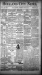 Holland City News, Volume 13, Number 11: April 19, 1884