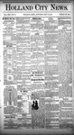 Holland City News, Volume 13, Number 16: May 24, 1884