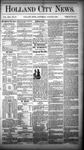 Holland City News, Volume 13, Number 27: August 9, 1884