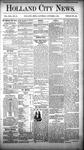 Holland City News, Volume 13, Number 35: October 4, 1884