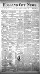 Holland City News, Volume 13, Number 38: October 25, 1884 by Holland City News