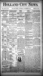 Holland City News, Volume 13, Number 43: November 29, 1884
