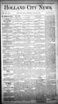 Holland City News, Volume 14, Number 6: March 14, 1885