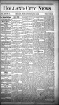 Holland City News, Volume 14, Number 11: April 18, 1885