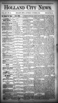 Holland City News, Volume 14, Number 35: October 3, 1885