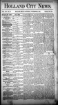 Holland City News, Volume 14, Number 41: November 14, 1885