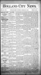 Holland City News, Volume 15, Number 4: February 27, 1886