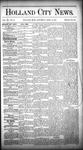 Holland City News, Volume 15, Number 12: April 24, 1886