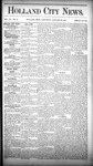 Holland City News, Volume 15, Number 51: January 22, 1887
