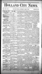Holland City News, Volume 16, Number 13: April 30, 1887
