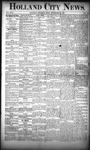 Holland City News, Volume 17, Number 34: September 22, 1888
