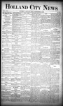 Holland City News, Volume 17, Number 35: September 29, 1888 by Holland City News