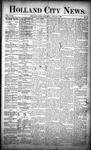 Holland City News, Volume 18, Number 27: August 3, 1889
