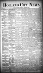 Holland City News, Volume 18, Number 37: October 12, 1889 by Holland City News